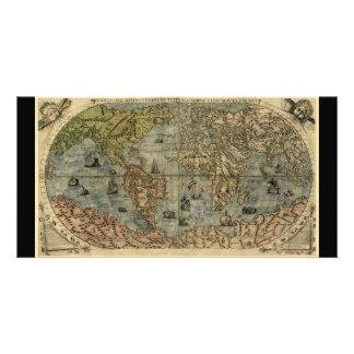 Mapa del mundo 1565 de Ferando Berteli (Fernando B Tarjetas Fotográficas