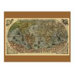 Mapa del mundo 1565 de Ferando Berteli (Fernando B Postal