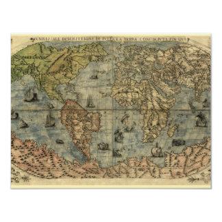 Mapa del mundo 1565 de Ferando Berteli (Fernando Invitación