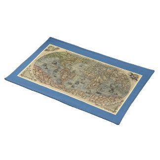 Mapa del mundo 1565 de Ferando Berteli (Fernando Mantel Individual