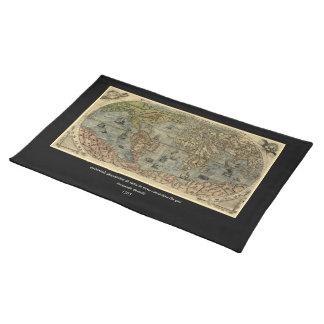Mapa del mundo 1565 de Ferando Berteli (Fernando Manteles