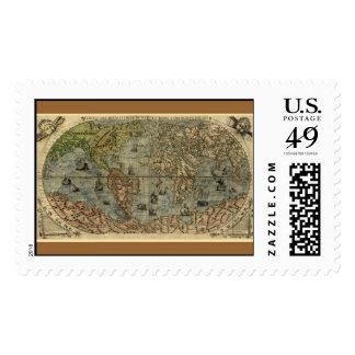 Mapa del mundo 1565 de Ferando Berteli (Fernando Franqueo