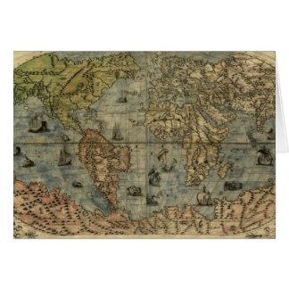 Mapa del mundo 1565 de Ferando Berteli (Fernando Tarjeta De Felicitación