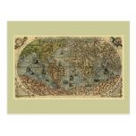 Mapa del mundo 1565 de Ferando Berteli (Fernando Postal