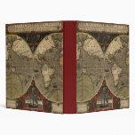 Mapa del mundo 1595 del vintage de Jodocus Hondius