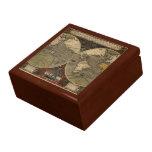 Mapa del mundo 1595 del vintage de Jodocus Hondius Cajas De Regalo