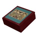 Mapa del mundo 1595 del vintage de Jodocus Hondius Caja De Joyas