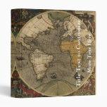 "Mapa del mundo 1595 del vintage de Jodocus Hondius Carpeta 1"""
