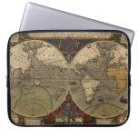 Mapa del mundo 1595 del vintage de Jodocus Hondius Manga Computadora