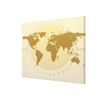 Mapa del mundo 15 lona estirada galerías