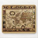 Mapa del mundo 1635 alfombrilla de ratón