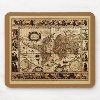 Mapa del mundo 1635 de Willem Blaeu Mousepad