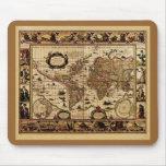 Mapa del mundo 1635 de Willem Blaeu Mousepad Tapetes De Raton