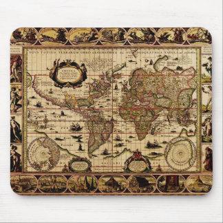Mapa del mundo 1635 Mousepad