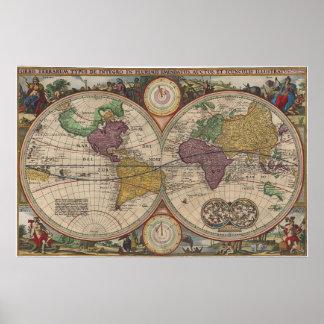Mapa del mundo 1657 impresiones