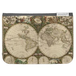 Mapa del mundo 1660 de la antigüedad de Frederick
