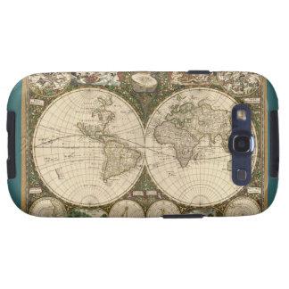 Mapa del mundo 1660 de la antigüedad de Frederick  Galaxy S3 Coberturas