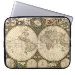 Mapa del mundo 1660 de la antigüedad de Frederick  Mangas Computadora