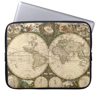 Mapa del mundo 1660 de la antigüedad de Frederick  Fundas Computadoras
