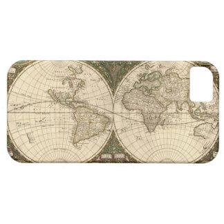 Mapa del mundo 1660 de la antigüedad de Frederick iPhone 5 Carcasa