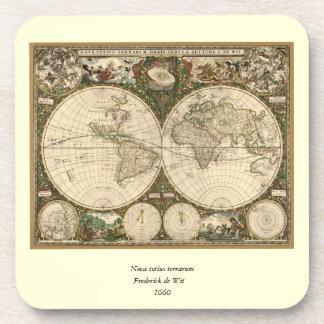 Mapa del mundo 1660 de la antigüedad de Frederick  Posavaso