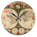 Mapa del mundo 1660 de la antigüedad de Frederick  Relojes