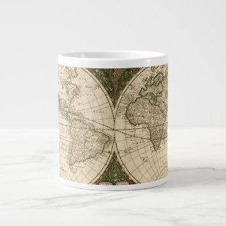 Mapa del mundo 1660 de la antigüedad de Frederick Taza De Café Grande