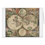 Mapa del mundo 1671 felicitación