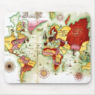 Mapa del mundo 1675 mousepads