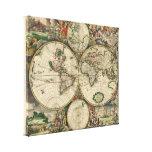 Mapa del mundo 1689 - por Gerard Van Schagen Impresiones De Lienzo