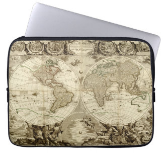 Mapa del mundo 1708 de Jean Baptiste Nolin Funda Portátil