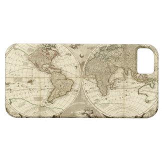 Mapa del mundo 1708 de Jean Baptiste Nolin Funda Para iPhone SE/5/5s