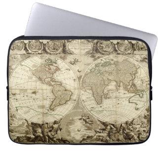Mapa del mundo 1708 de Jean Baptiste Nolin Manga Portátil