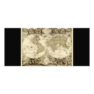 Mapa del mundo 1708 de Jean Baptiste Nolin Plantilla De Lona