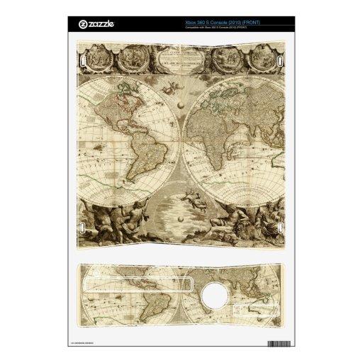 Mapa del mundo 1708 de Jean Baptiste Nolin Skin Para El Xbox 360 S