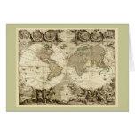 Mapa del mundo 1708 de Jean Baptiste Nolin Tarjeta