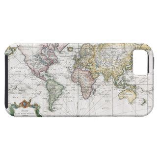 Mapa del mundo 1748 iPhone 5 carcasas