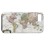 Mapa del mundo 1748 iPhone 5 Case-Mate fundas