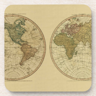 Mapa del mundo 1786 de la antigüedad de Guillermo Posavasos De Bebidas