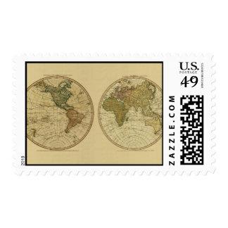 Mapa del mundo 1786 de la antigüedad de Guillermo Envio