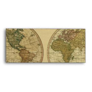 Mapa del mundo 1786 de la antigüedad de Guillermo