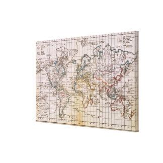 Mapa del mundo 17 impresiones en lona estiradas