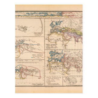 Mapa del mundo 18 de Exhausteds Postal