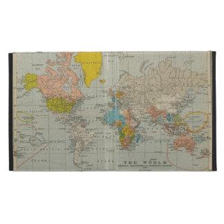 Mapa del mundo 1910 del vintage