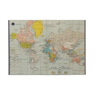 Mapa del mundo 1910 del vintage iPad mini cárcasas
