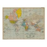 Mapa del mundo 1910 V2 del vintage