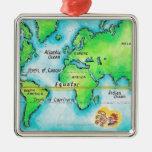 Mapa del mundo 19 adorno para reyes