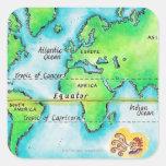 Mapa del mundo 19 colcomania cuadrada