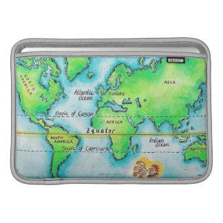Mapa del mundo 19 fundas macbook air