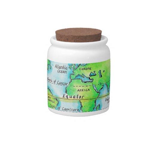 Mapa del mundo 19 plato para caramelo